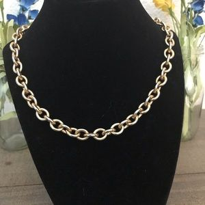 Vintage Monet Heavy Gold Tone 29 Inch Necklace